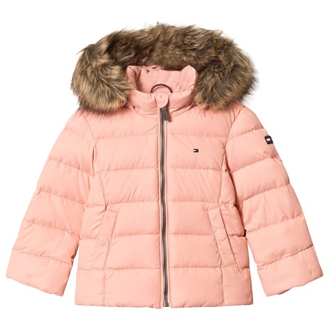 f36faacce Tommy Hilfiger Pale Pink Down Padded Hooded Coat | AlexandAlexa