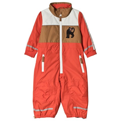 Mini Rodini Red Snow Racing Overall