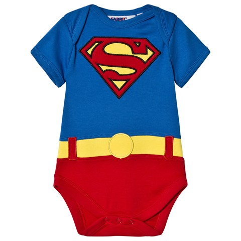 e79cda683 Fabric Flavours Blue and Red Superman Suit Babygrow