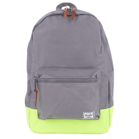Herschel Supply Co Grey and Yellow Settlement Rubber Backpack