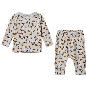 STELLA MCCARTNEY KIDS | Stella McCartney Kids Grey Buster And Macy Top And Bottom Bumble Bee Print Set 9 Months | Goxip