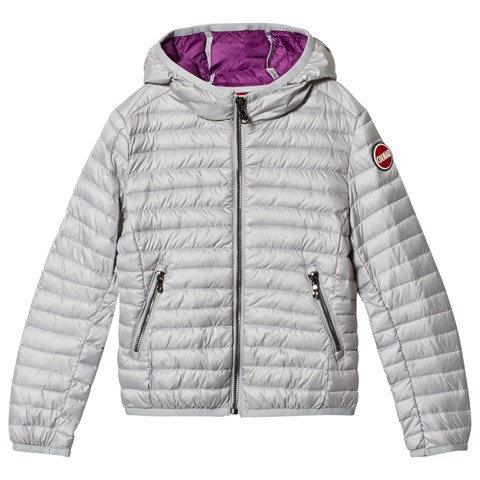 Colmar Silver with Purple Lining Lightweight Padded Down Jacket