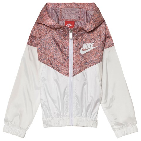 Nike Pink and White Windrunner Hoodie