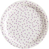 My Little Day Pack of 8 Purple Triangle Print Paper Plates