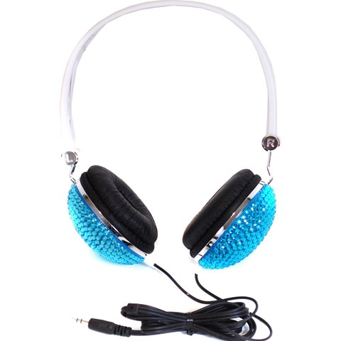 Supersonic Blue Glitter Headphones