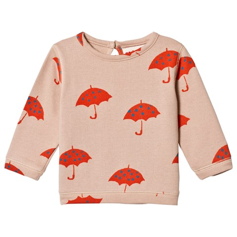 nadadelazos Light Pink Umbrella Print Rising Sun Oversized Sweatshirt