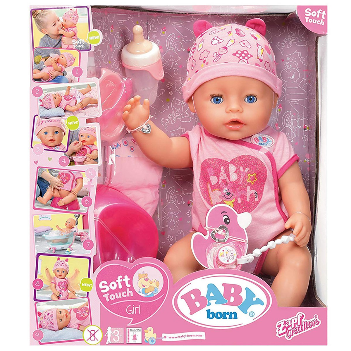 Baby Born Soft Touch Girl With Blue Eyes Alexandalexa