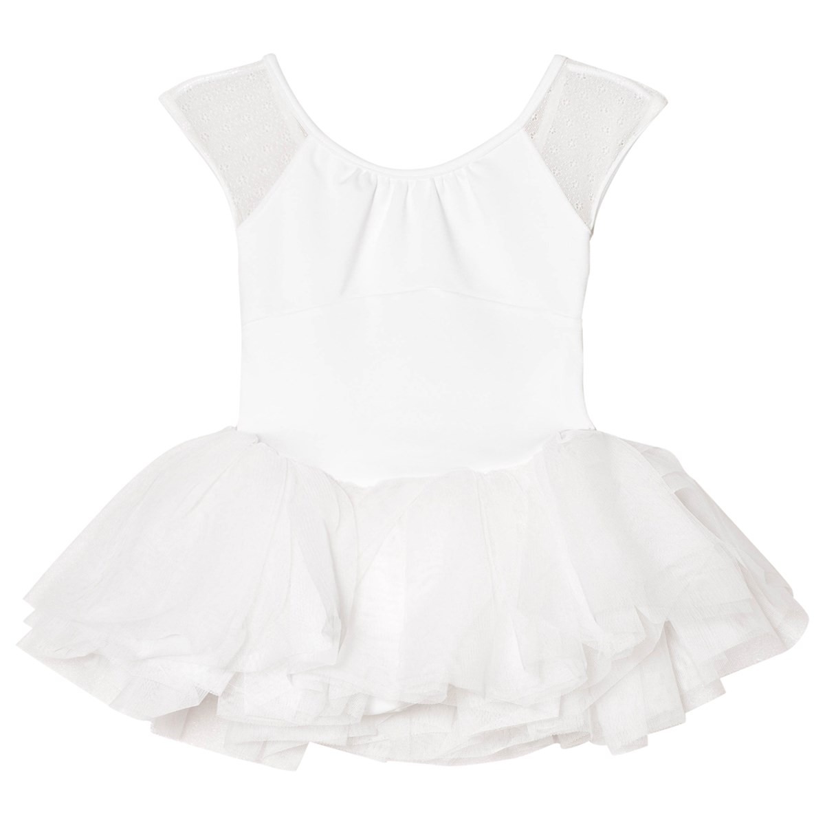 96f6deb322 Bloch White Jemima Daisy Mesh Bow Back Tutu Dress | AlexandAlexa
