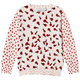 b453fd4a8 Stella McCartney Kids White and Pink Jumper with Ladybird Print ...