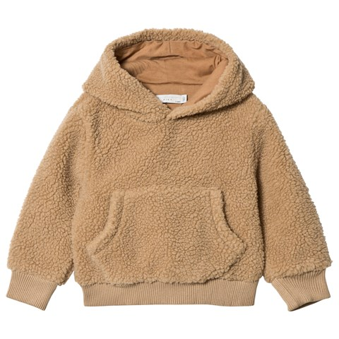 Stella McCartney Kids Yellow Hooded Fake Sheep Jumper