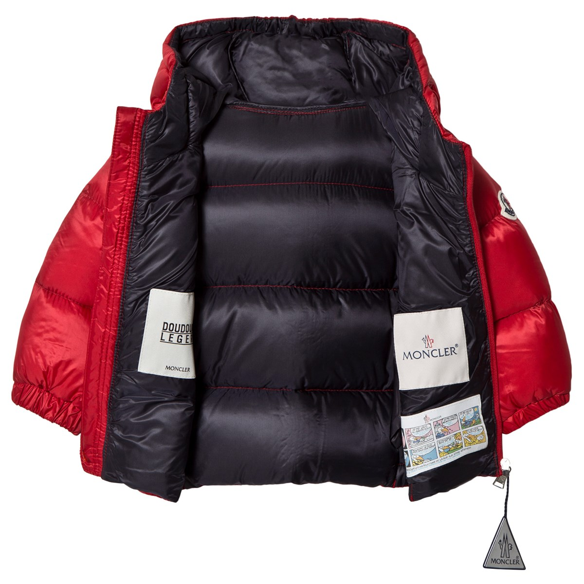 1b7bcc7c9e7e Moncler Red Macaire Down Puffer Coat
