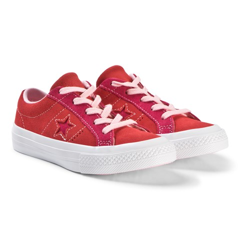 Junior Red Star And Converse Pink TrainersAlexandalexa One Ox HWDE2Y9eI