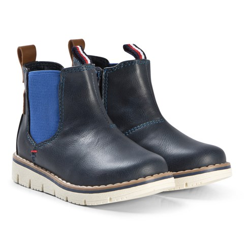 Tommy Hilfiger Navy and Royal Blue Chelsea Boots
