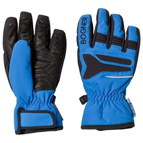 Bogner Blue and Black 2 Way Techno Stretch Gloves