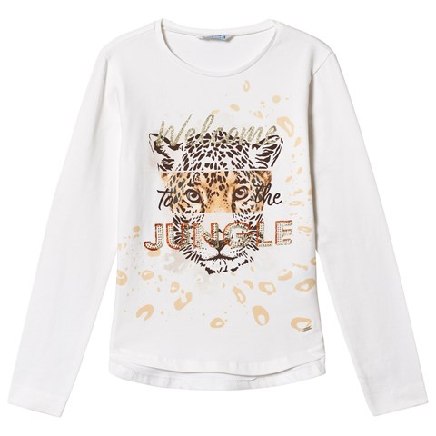 93e76279937e Mayoral Cream Welcome To The Jungle Leopard Graphic Long Sleeve T-Shirt