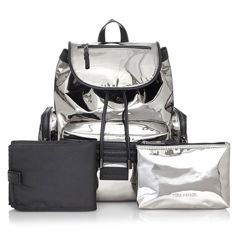 Tiba + Marl Silver Mirror Kaspar Changing Backpack