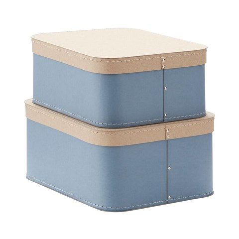 Kids Concept Blue Set of Two Storage Boxes
