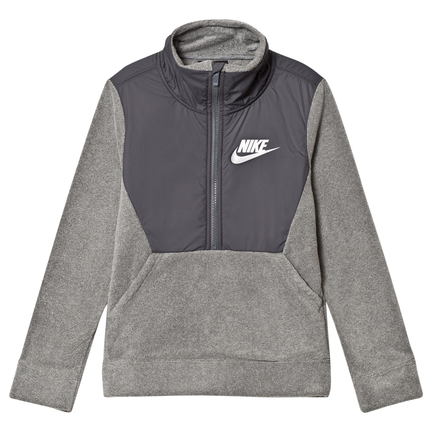 buy online ebde6 cf731 Nike Grey Winterized Long Sleeve Half Zip Top   AlexandAlexa