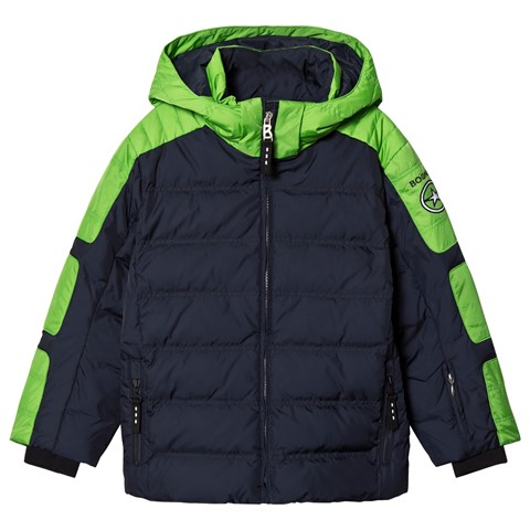Bogner Navy And Green Jerome-D Ski Jacket