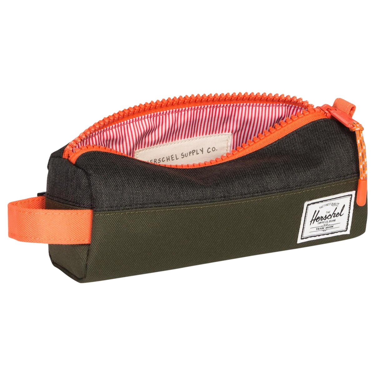 40c12783202 Herschel Supply Co Forest Night Green And Black Crosshatch Settlement  Pencil Case