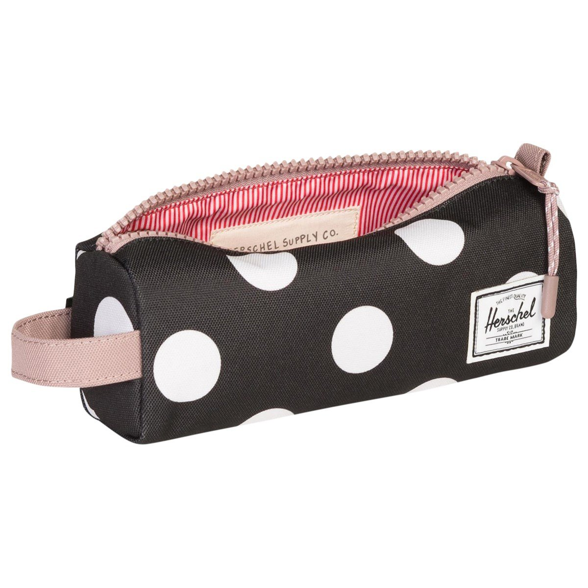 b618a9e235e Herschel Supply Co Black Polka Dot Ash Rose Settlement Case ...