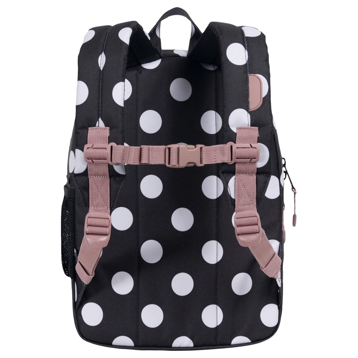 c1e07bd7faa8 Herschel Supply Co Black Polka Dot And Ash Rose Heritage Youth Backpack