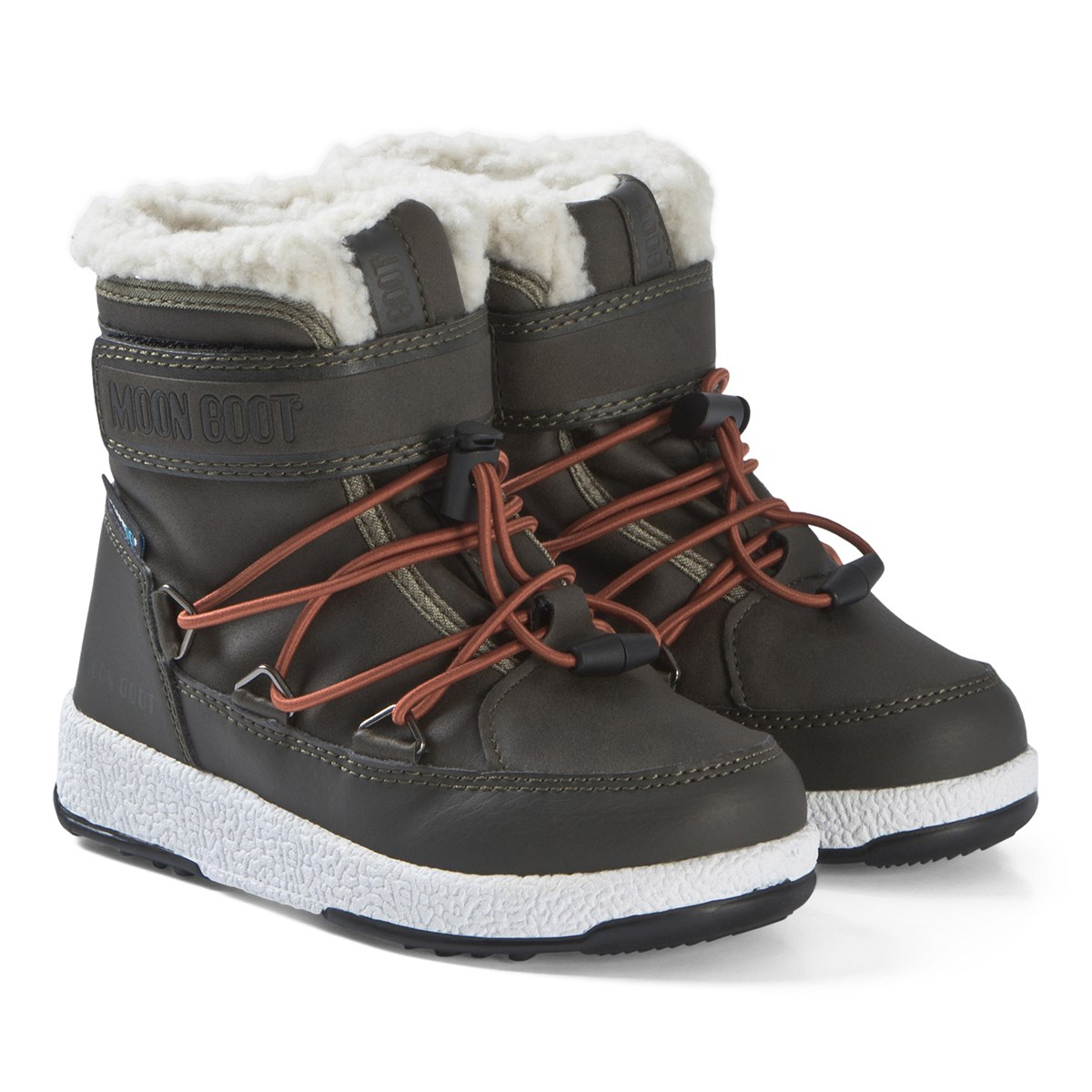 074725184947 Moon Boot Olive Green Boots