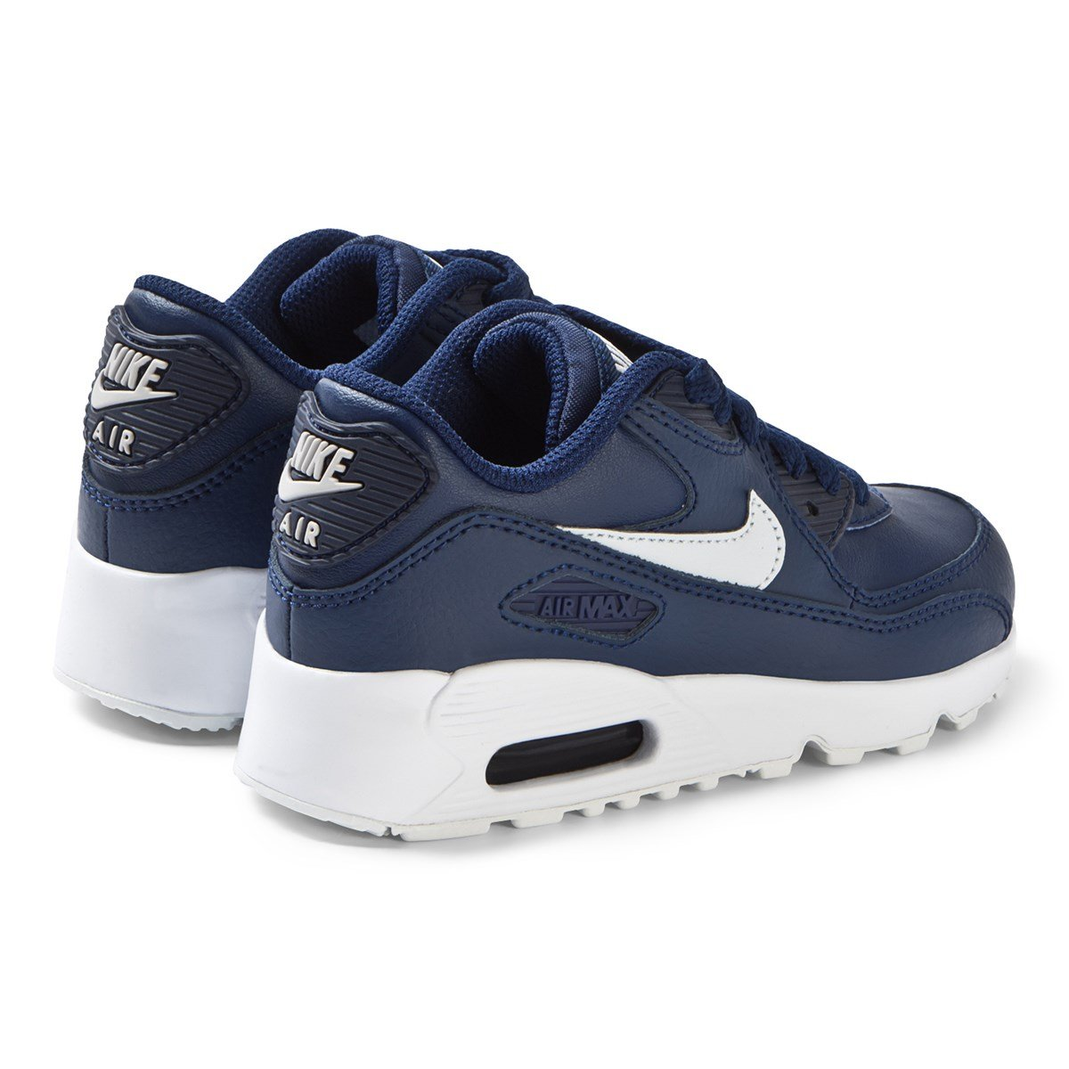 72551cd1251fc Nike Blue Nike Air Max 90 Leather Trainers