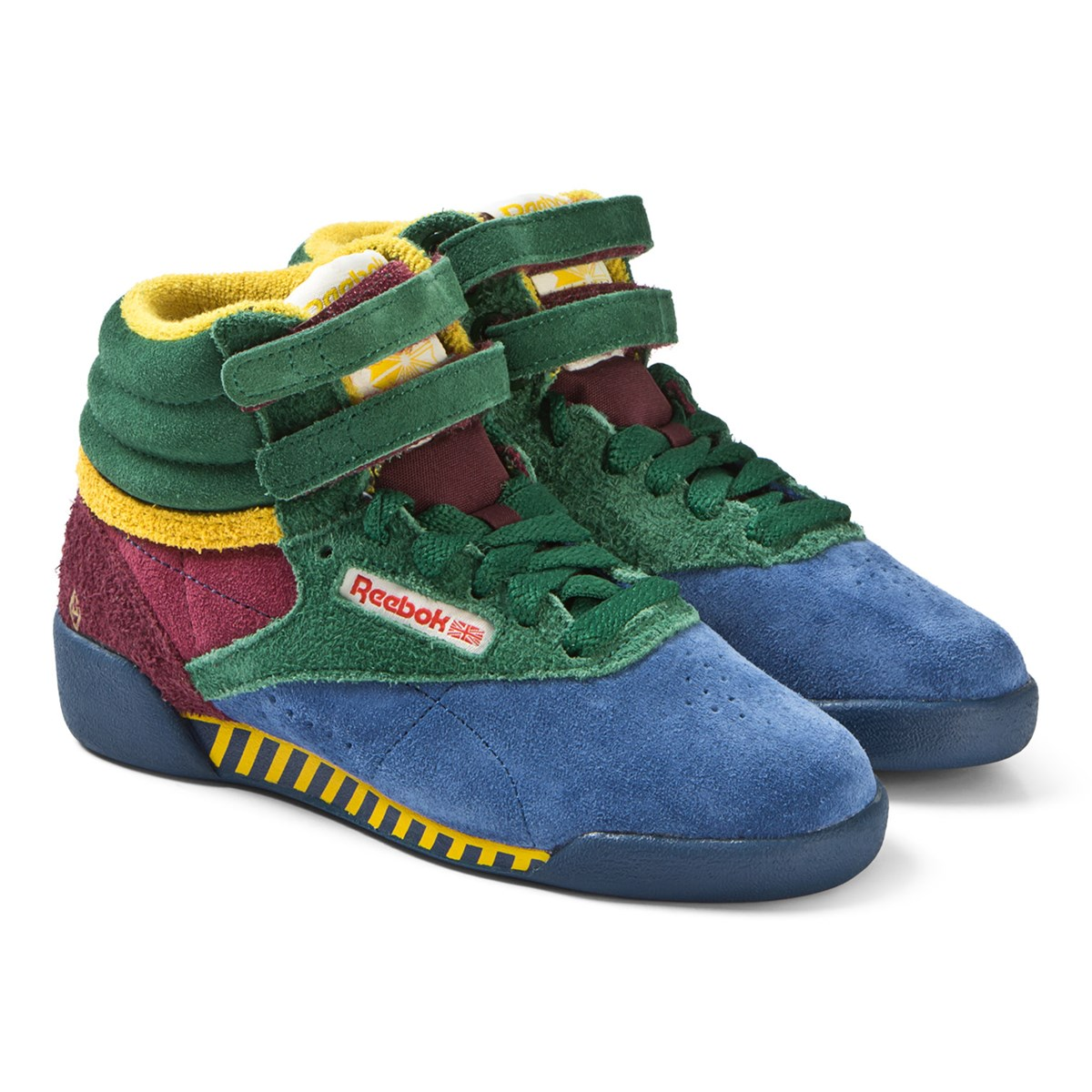 228d3862e67 The Animals Observatory Red Blue And Green TAO Freestyle Hi-Top Kids  Trainers