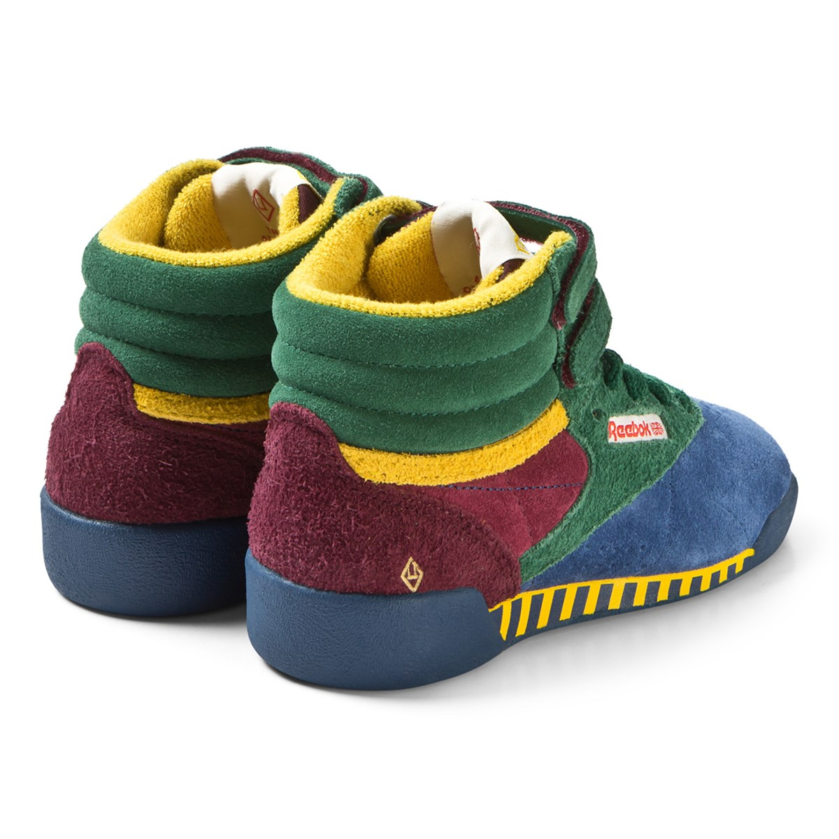 7c9b9fd1b5f2 The Animals Observatory Red Blue And Green TAO Freestyle Hi-Top Kids  Trainers