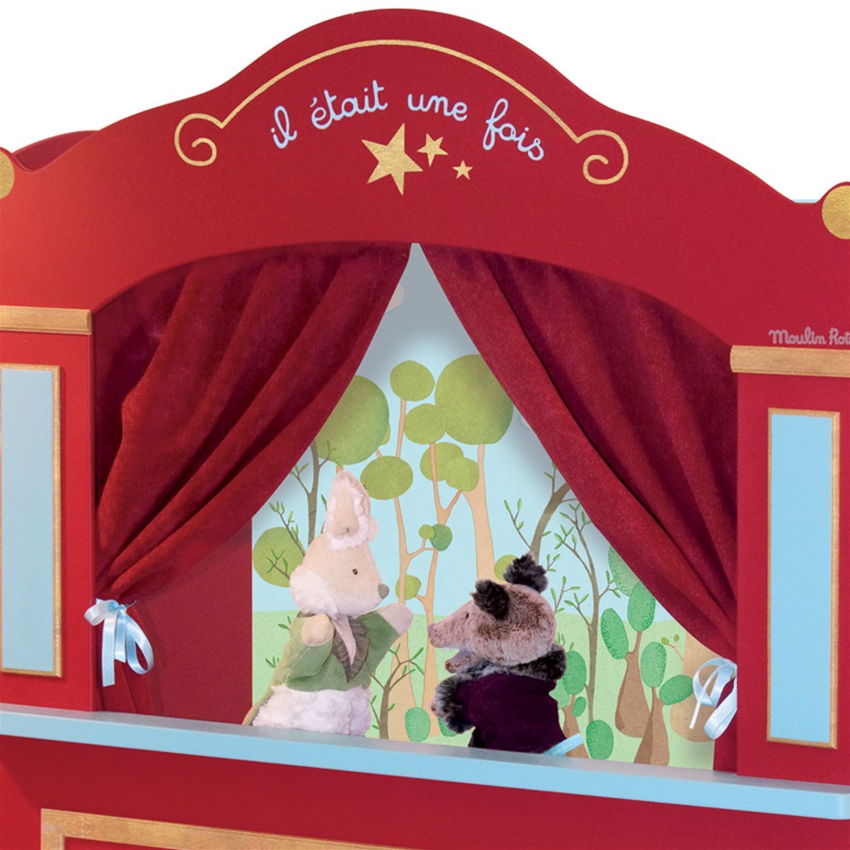moulin roty floor standing puppet theatre alexandalexa. Black Bedroom Furniture Sets. Home Design Ideas