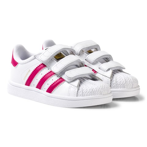 99a90b9de21 adidas Originals White and Pink Infant Superstar Trainers