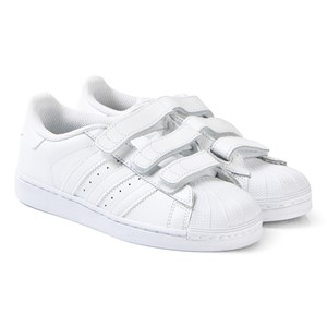White Superstar Foundation Trainers 34