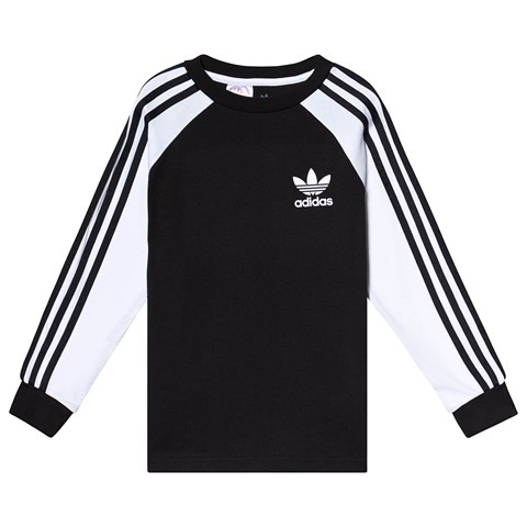 adidas Originals Black Raglan Sleeve T-Shirt
