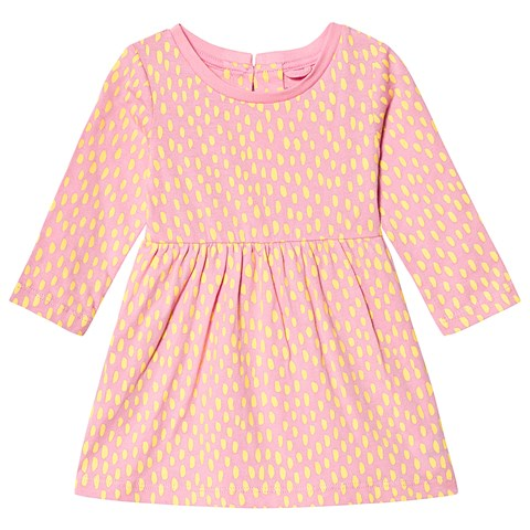 Stella McCartney Kids Pink Yellow Spots Baby Dress