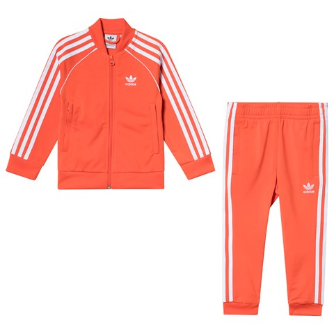 adidas Originals Orange Branded Tracksuit