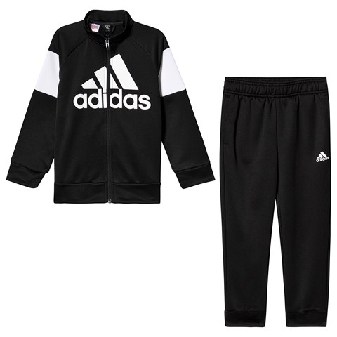 adidas Performance Black and White Logo Tracksuit