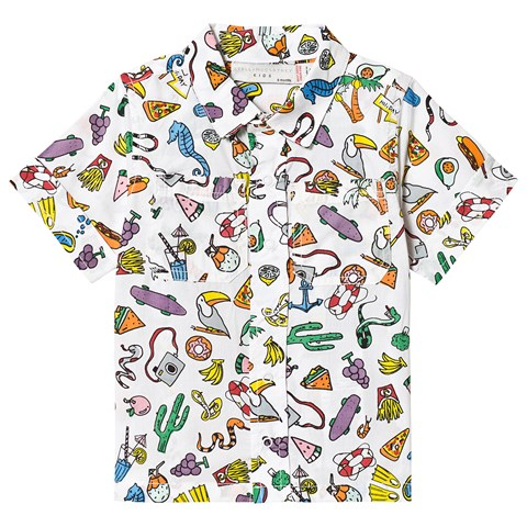 Stella McCartney Kids White Food All Over Print Shirt