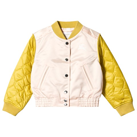 Burberry Pink and Yellow Mona Bomber