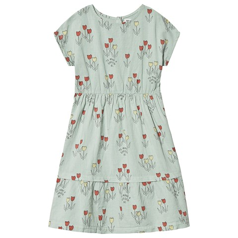 Bobo Choses Iceberg Green Poppy Prairie Princess Dress
