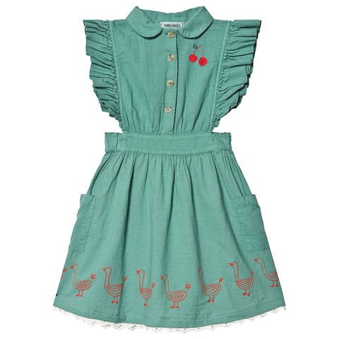 Bobo Choses Frosty Green Ruffle Dress