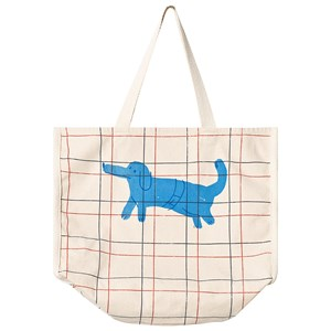 BOBO CHOSES | Bobo Choses White Paul´s Dog Check Tote Bag One Size | Goxip