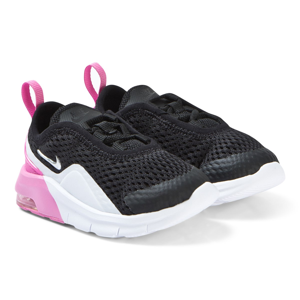 5d33249d7 Nike Pink and Black Nike Air Max Motion 2 Infants Trainers ...