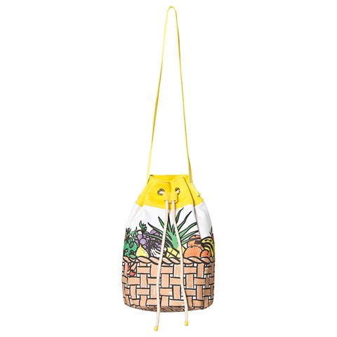 Stella McCartney Kids White Fruit Basket Print Bag