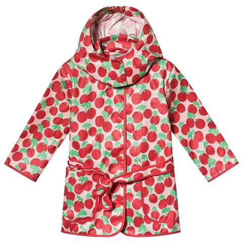 Stella McCartney Kids Red Cherry Print Polly Coat