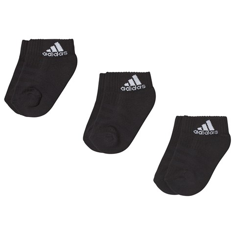 adidas Performance Pack of 3 Black Socks