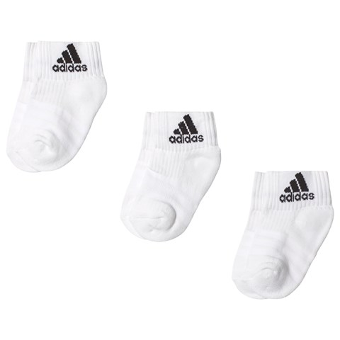 adidas Performance Pack of 3 White Socks