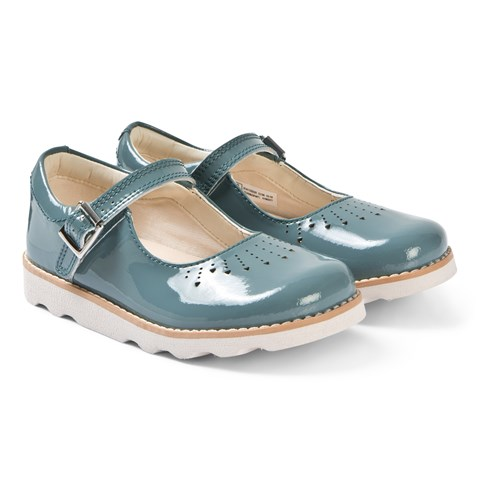 f12713de6a2e Clarks Teal Patent Crown Jump Mary Janes
