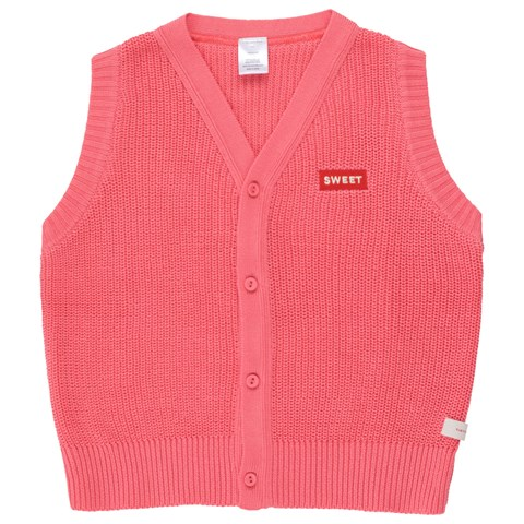 Tinycottons Rose and Red Button Sweater Vest