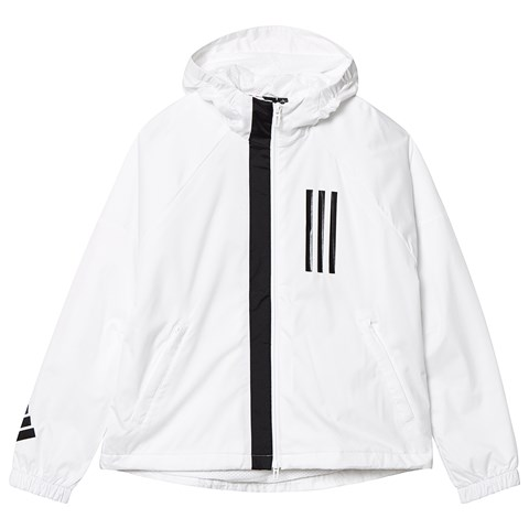 adidas Performance White and Black Logo Jacket